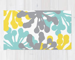 Yellow Area Rugs Modern Dahlia Flower Rug Area Rug Yellow And White Flower