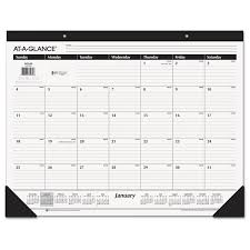 desk pad calendar 2017 view ruled desk pad and other 2018 calendars ontimesupplies com