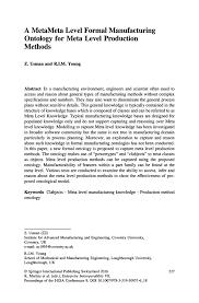 a metameta level formal manufacturing ontology for meta level
