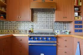 Range Backsplash Ideas by Tin Backsplash Ideas Kitchen Rustic With Back Blue Blue Range