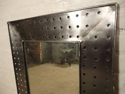 industrial style metal mirror at 1stdibs industrial style metal mirror 3