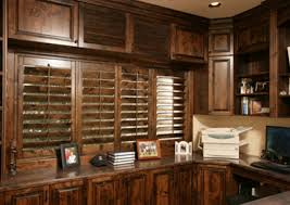 home office featuring our ovation real wood shutter ovation