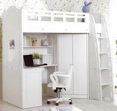 bureau superposé lit joli lit superposé monobloc chambre d enfant en blanc bureau