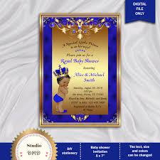 prince baby shower invitation little prince royal baby boy