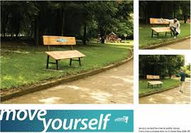 Benches In Park - 12 coolest bench ads bench advertising oddee