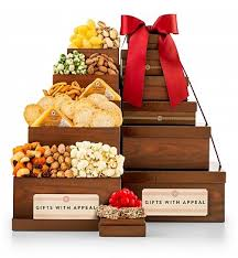 miami gifts delivered by gifttree cheese and nuts savory snack tower gift towers p a