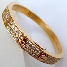 love bracelet with diamonds images Cartier love bracelet pink gold diamond ref n6036916 new unworn jpg