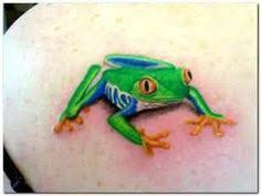 blue frog tattoos frogs and