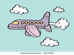 vector illustration aeroplane birthday flying message stock vector