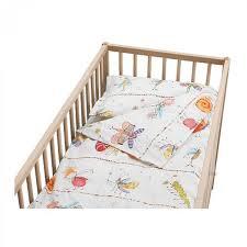 ikea hokus crib duvet cover pillowcase set fairies butterflies