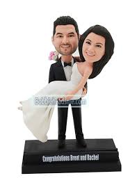 custom wedding cake toppers custom wedding bobblehead cake topper