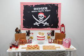 pirate theme party pirate themed party trestle table party by design