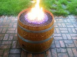 wine barrel fire table handmade propane wine barrel fire pit natural gas lng cng lpg barrel