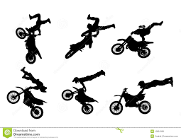 motocross freestyle tricks 6 high quality freestyle motocross silhouettes royalty free stock