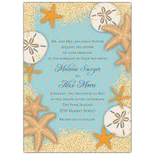 starfish wedding invitations sand dollars and starfish wedding invitations paperstyle