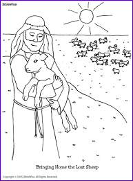 lost sheep coloring christian coloring pages