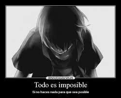 imagenes de amor imposible anime carteles imposible anime manga intentarlo dicho todo posible