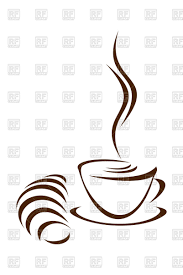 coffee and croissant sketch style vector clipart image 96812