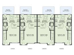 Multi Family Home Floor Plans 4 Plex Home Plans Multi Family Home Design 025m 0092 At