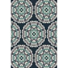 Lowes Indoor Outdoor Rugs by Shop Oriental Weavers Of America Glendale Navy Rectangular Indoor