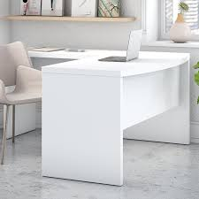 L Shaped White Desk Kathy Ireland Office By Bush Echo Bow Front L Shaped Computer Desk