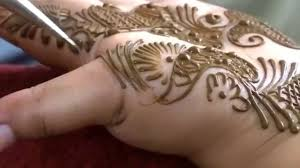 indo arabian modern henna mehndi tattoo design with heavy fingers