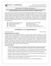Resume Job Accomplishments Examples by Excellent Business Enterprise Architect Resume Template With Work