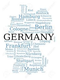 Dortmund Germany Map by Germany Outline Map Made Of City Names German Concept Royalty