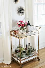 Wohnzimmer Einrichten Sch Er Wohnen Diy Faux Marble Bar Cart Makeover Barwagen Wohnzimmer Und Neue
