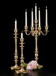 living room gold copper candelabras and candle holder with