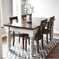 white farmhouse table black chairs farm style dining table farmhouse kitchen room tables for less