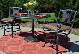 3 Piece Bar Height Patio Set Amalia 3 Piece Luxury Cast Aluminum Patio Furniture Bar Height Set