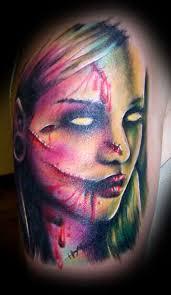 22 horror portrait tattoos