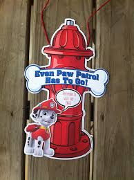 paw patrol party potty door sign paw patrol birthday party paw