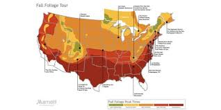 this map shows you where to travel for the best fall foliage views