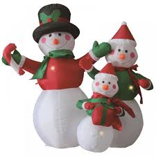 electric self inflating snowman large outdoor christmas figure