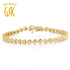gold plated silver heart bracelet images Gemstoneking 925 sterling silver yellow gold plated heart shape jpg