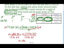 114 arithmetic and geometric word problems youtube