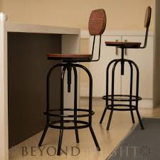 industrial metal bar stools with backs 2 x ari bar stool with removable back rest black industrial