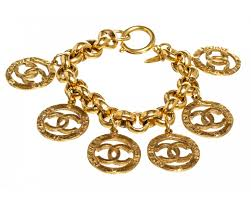 gold chain bracelet with charm images Chanel gold cc logo charm chain bracelet jpg