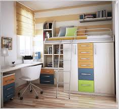 store ideas for small apartment teenage bedroom with loft bed and