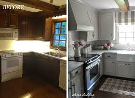 Makeover Kitchen Cabinets Decorating Dear Lillie Kitchen Makeover With Electric Stove And