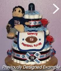 all sports diaper cakes football plush ny giants