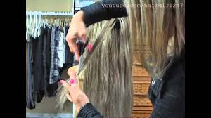 how to cut halo hair extensions how i layer my clip in hair extensions youtube