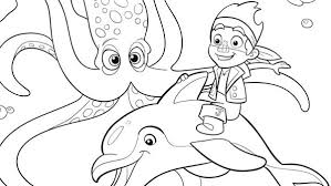 jake riding dolphin colouring jake riding dolphin