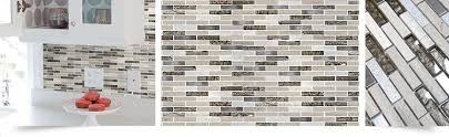 Gray Brown Glass Marble Backsplash Tile Backsplashcom - Glass and metal tile backsplash
