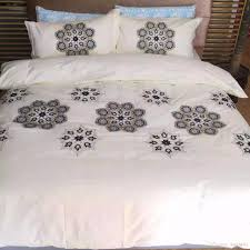 new arrival portugal white embroidery bedding set 60s cotton satin