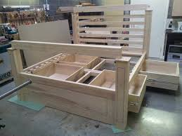 double wooden bed with storage woodworking project u2014 top wood plans