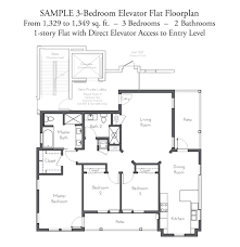 Floor Plan Flat by Evanston Court Sample Floorplan 3 Bedroom Elevator Flats