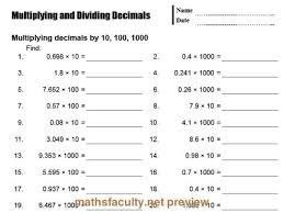 multiplying decimals by powers of 10 worksheet 5th grade